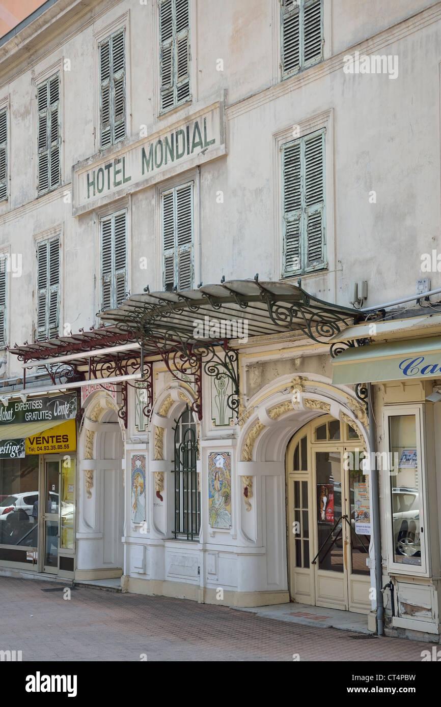 Menton France Lodging - Former hotel mondial rue partouneaux menton c te d azur alpes maritimes provence alpes c te d azur france