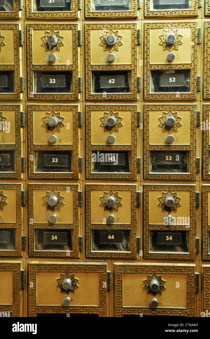 Antique Mail Boxes (still In Use) At The Post Office Inside The Inn At  Pocono Manor