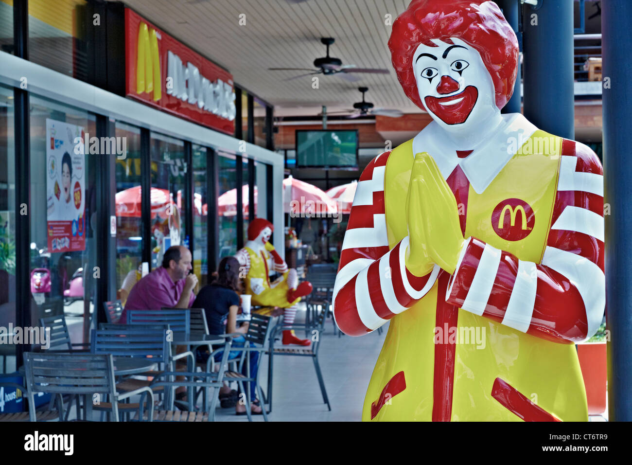 Mcdonalds restaurant in thailand with ronald mcdonald greeting mcdonalds restaurant in thailand with ronald mcdonald greeting customers with the traditional thai wai thailand s e asia kristyandbryce Choice Image