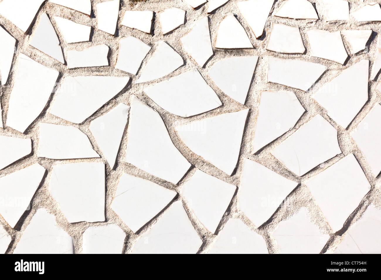 Broken white tile mosaic background horizontal shot stock photo broken white tile mosaic background horizontal shot dailygadgetfo Gallery