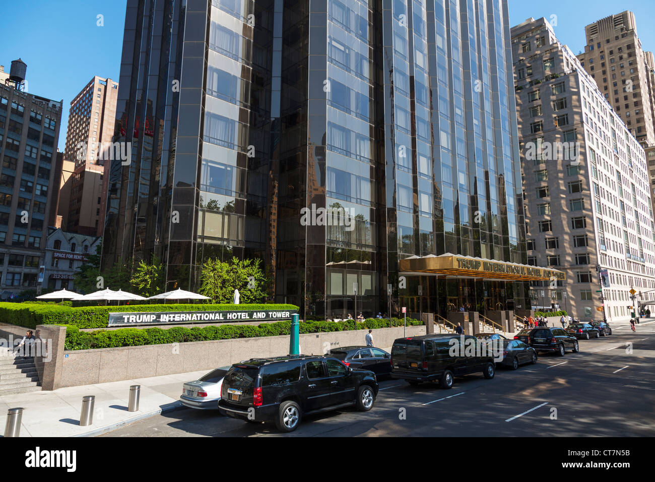 Stock photo trump international hotel manhattan new york city the entrance facade