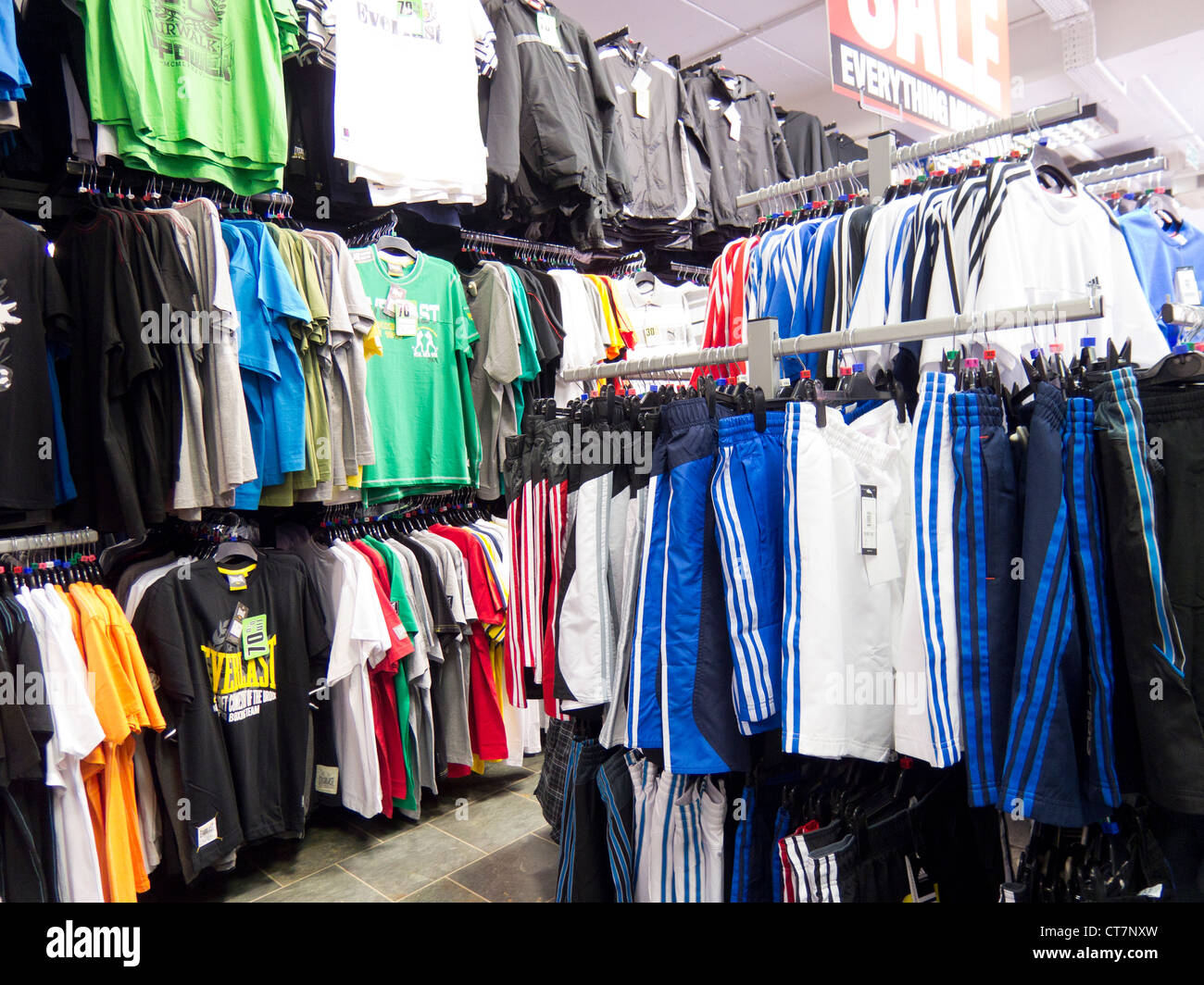 interior of a sports direct store stock photo royalty free image 49343361 alamy. Black Bedroom Furniture Sets. Home Design Ideas