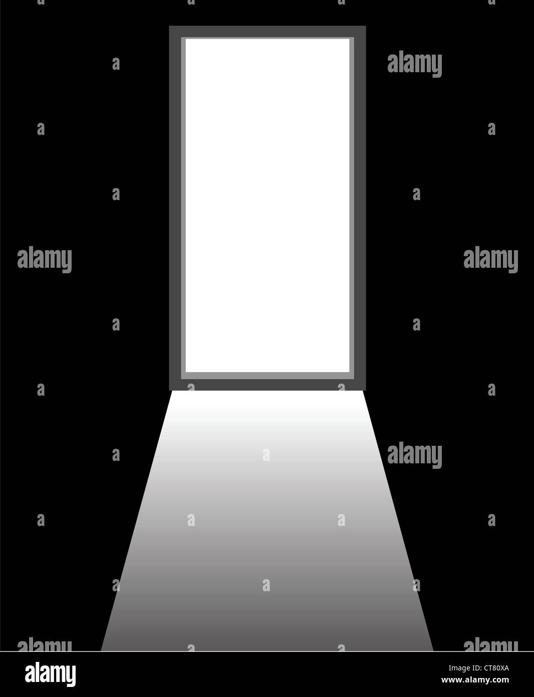 Open Door Dark Room an open door of a dark room stock photo, royalty free image