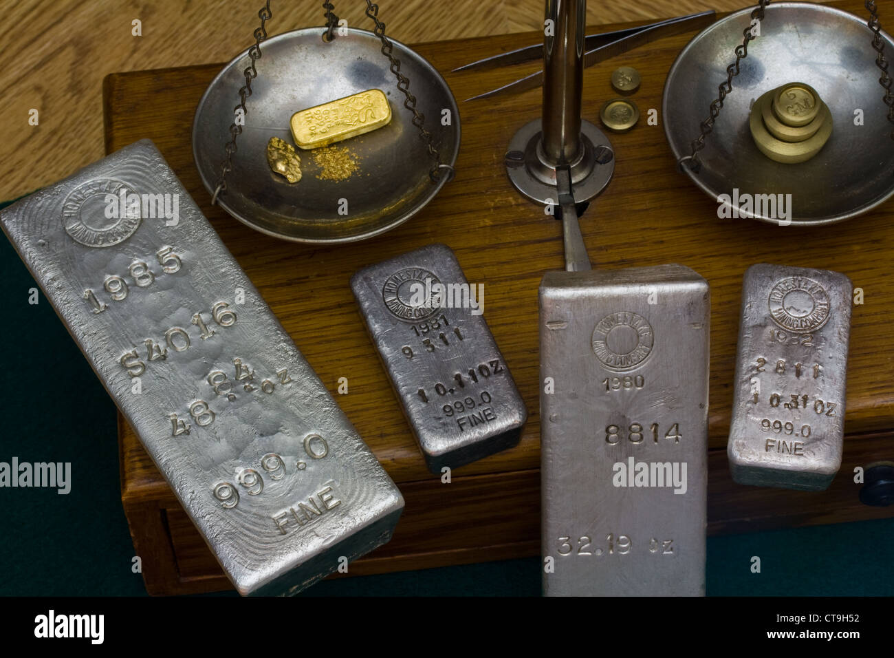 silver bullion bars gold bar gold nugget and gold dust