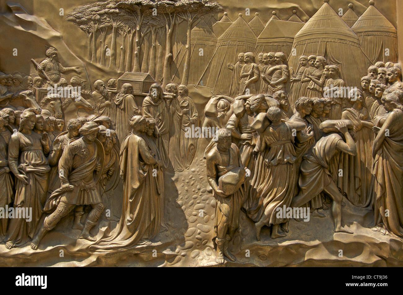 Joshua Lorenzo Ghiberti\u0027s Gates of Paradise doors Baptistry Florence Italy & Joshua Lorenzo Ghiberti\u0027s Gates of Paradise doors Baptistry ... Pezcame.Com