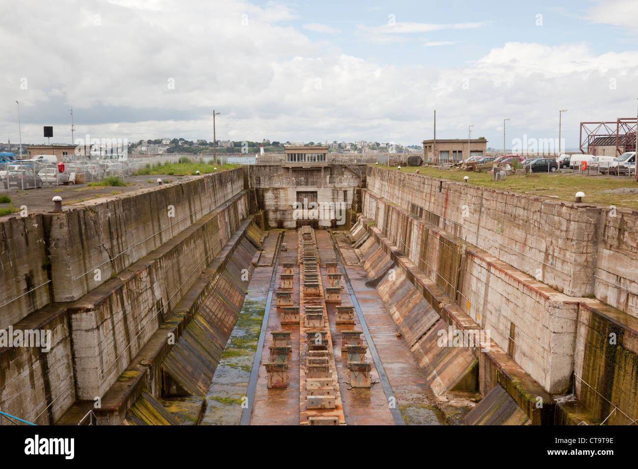 Souvent Dry Dock, St Malo, France Stock Photo, Royalty Free Image  IP37