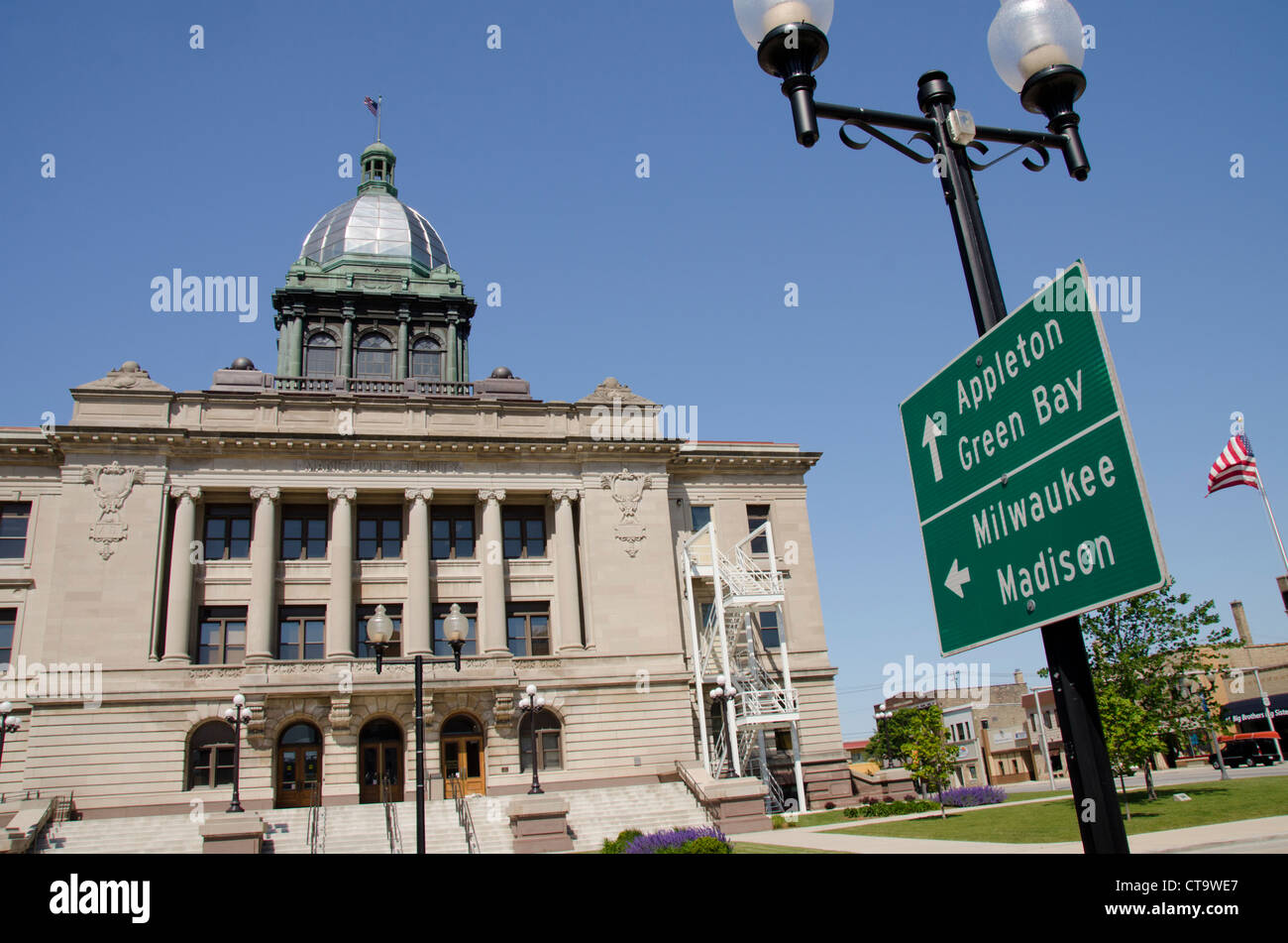 Wisconsin, Manitowoc. Manitowoc County Courthouse, C.1906, Listed ...
