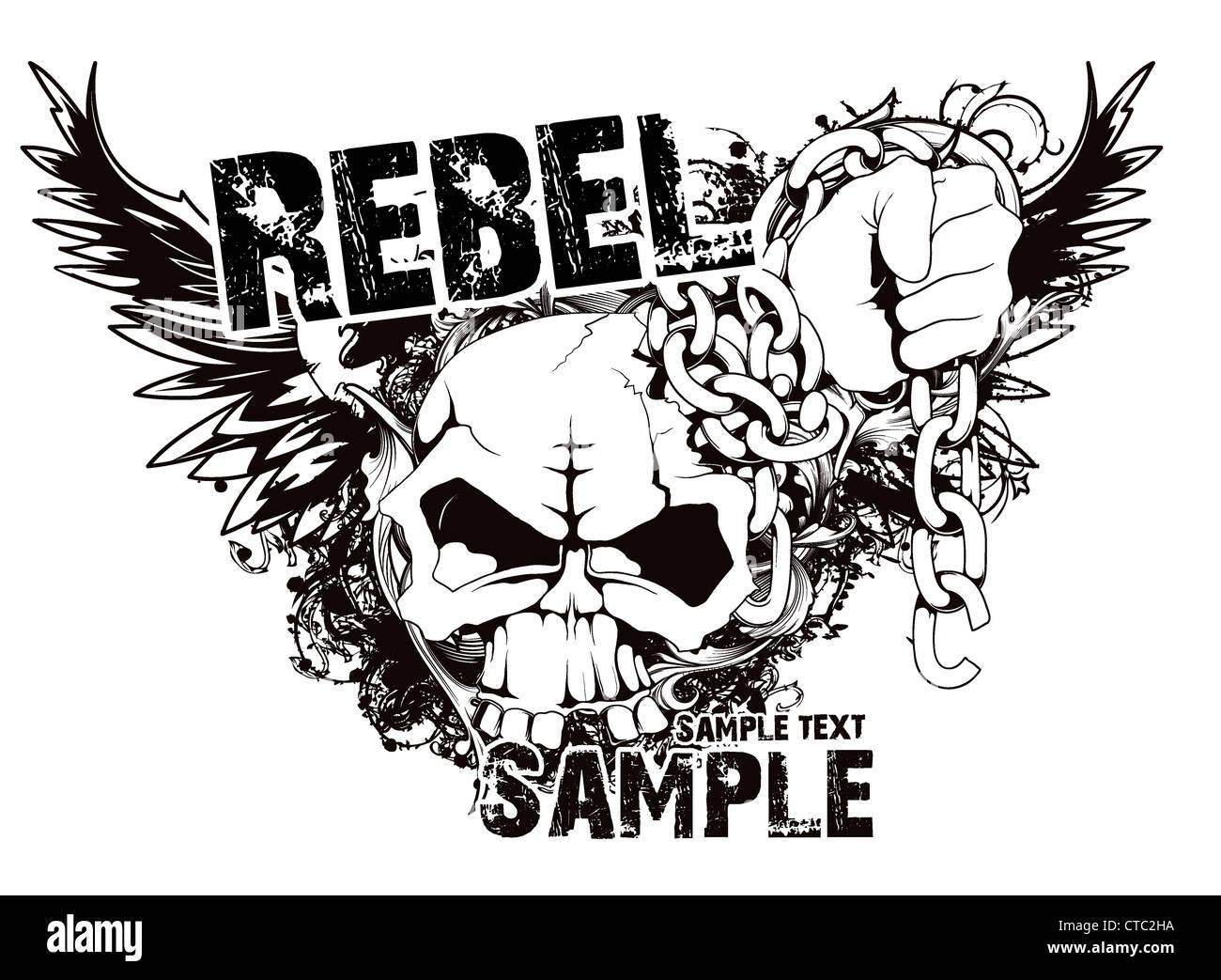 Design t shirt skull - Stock Photo Vector Vintage T Shirt Design With Skull