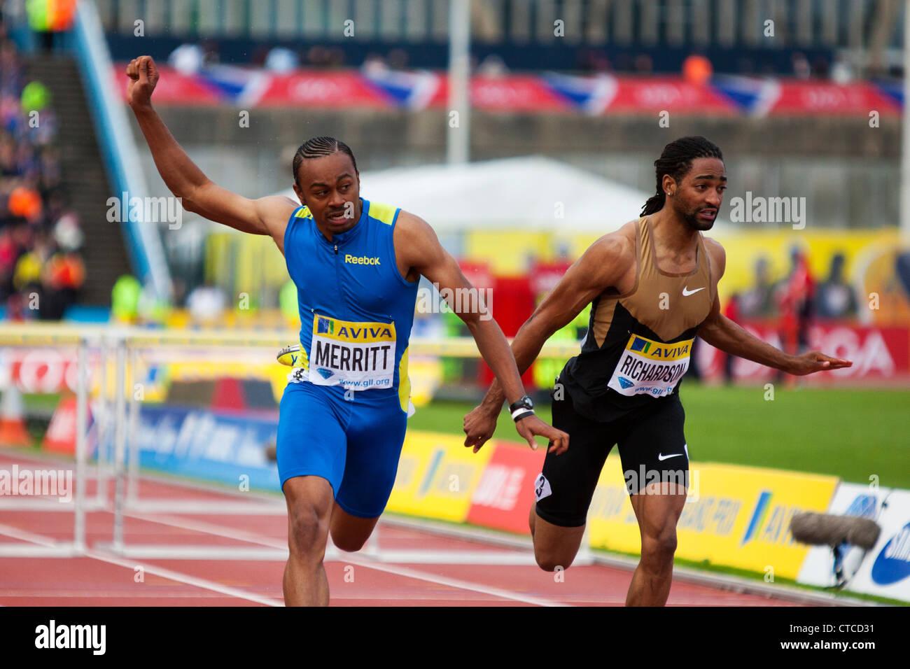 Aries MERRITT & Jason RICHARDSON Men s 110m Hurdles Final AVIVA