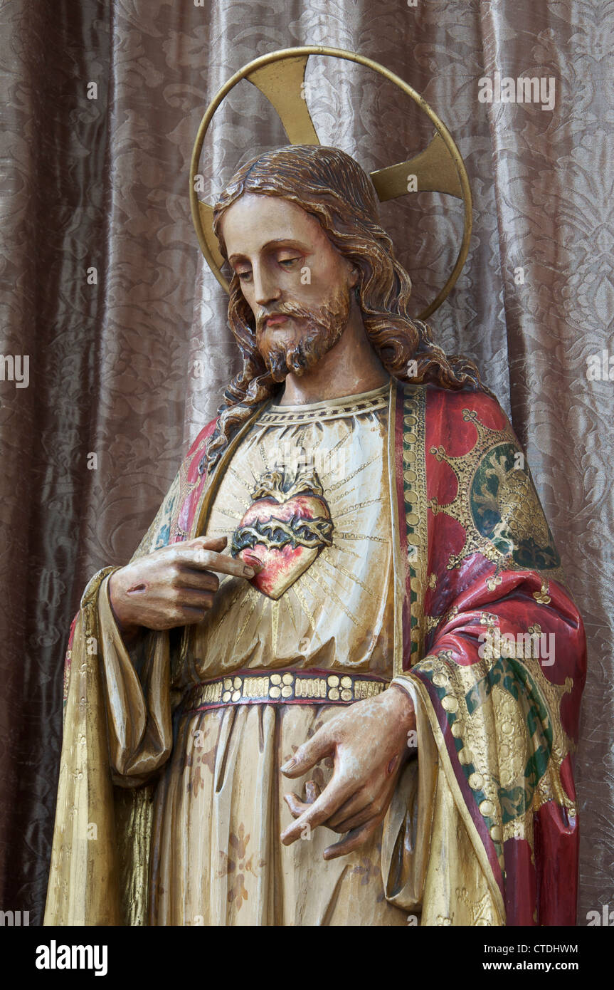 christianity a statuette of jesus christ in this traditional