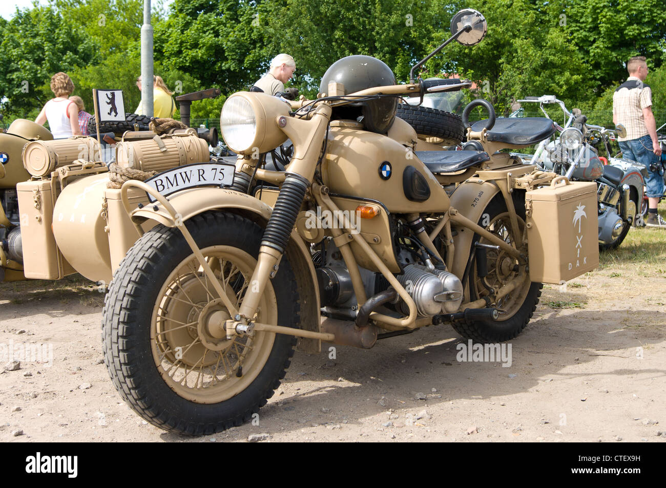 military motorcycles bmw r75 stock photo, royalty free image
