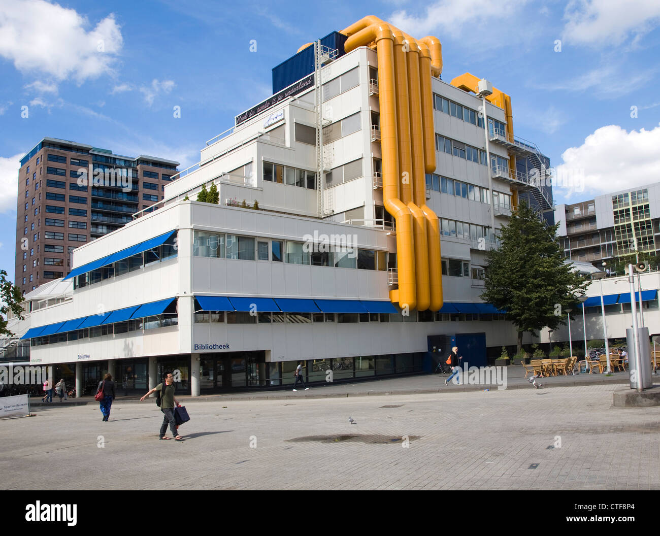 Modern architecture of the central library centrale bibliotheek stock photo royalty free image - Moderne bibliotheek ...
