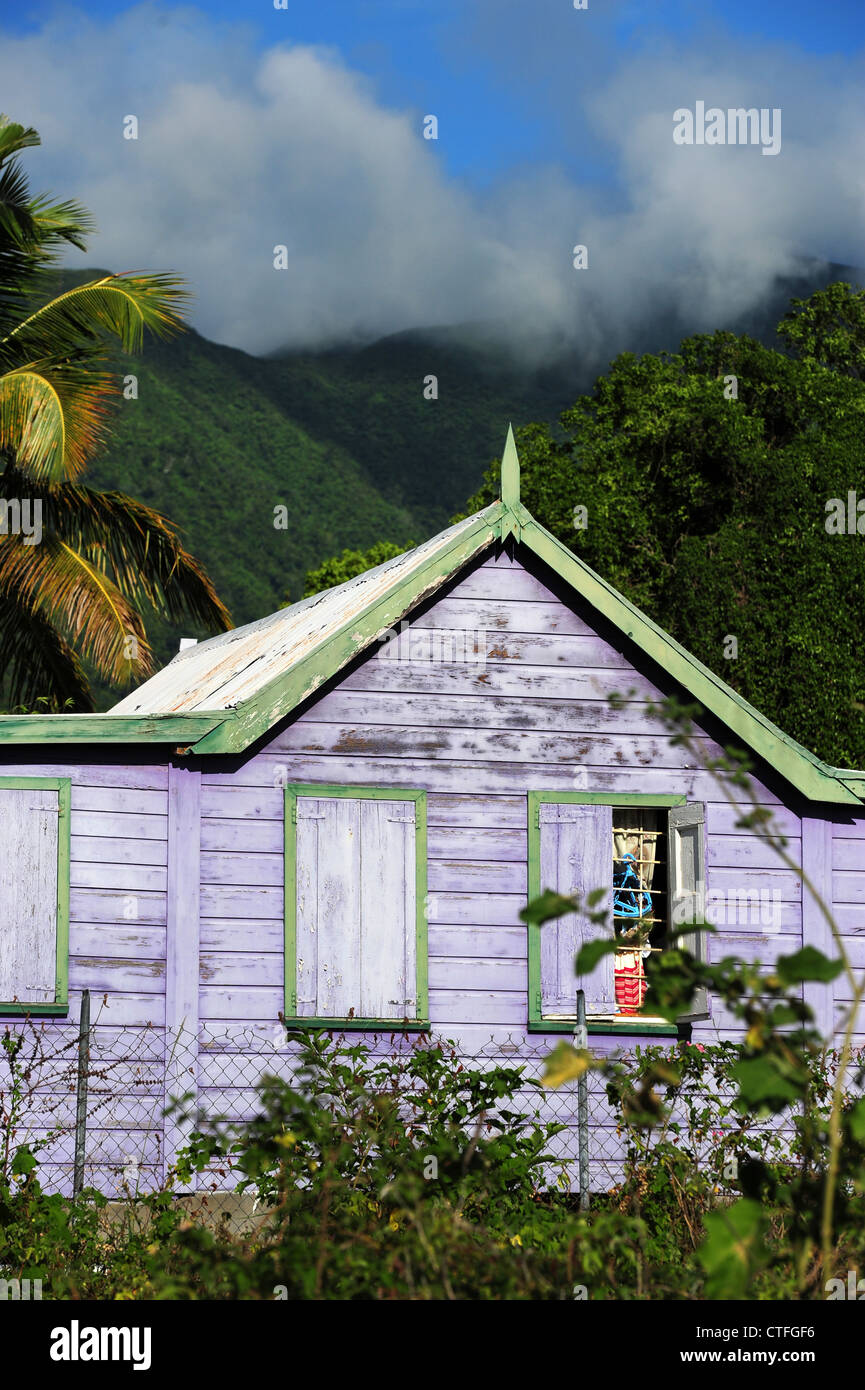 Caribbean West Indies St Kitts And Nevis An Old Purple Wooden Stock Photo Royalty Free Image