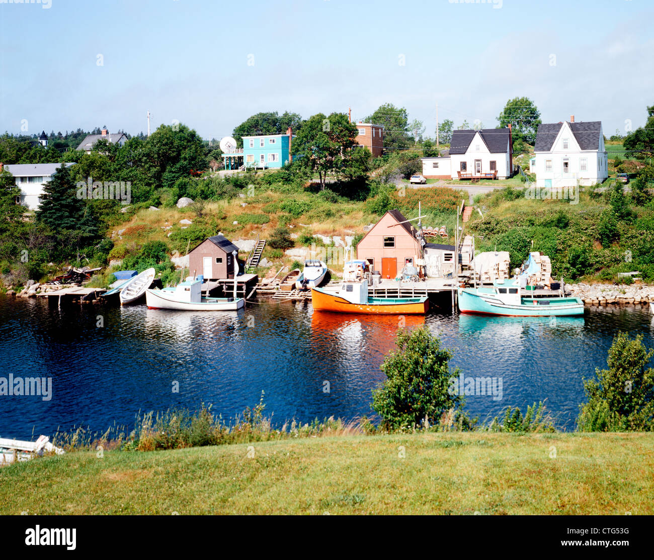 Near Peggy's Cove Fishing Villages In Eastern Canada, Nova