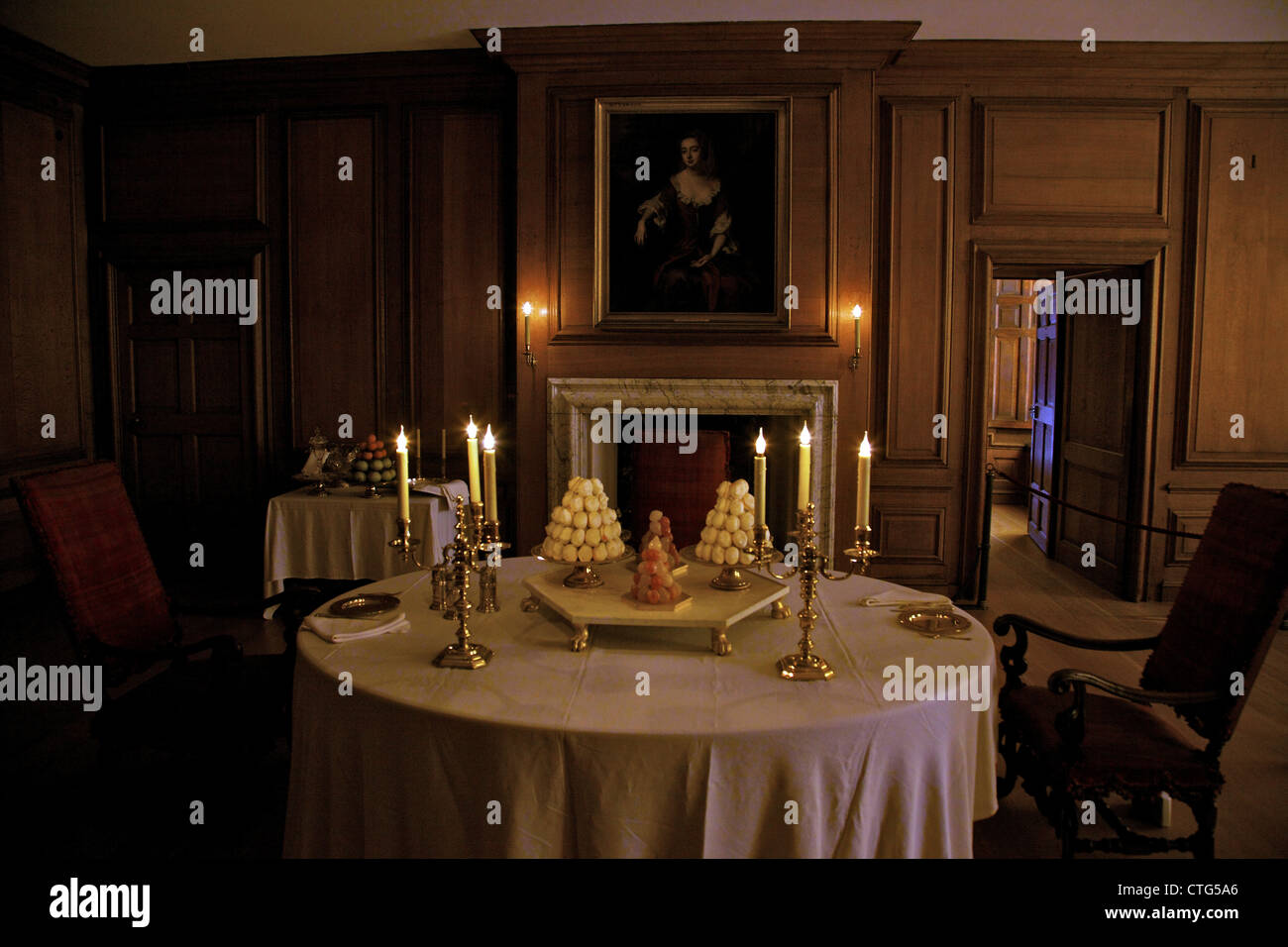 king's private dining room, hampton court palace, london, surrey