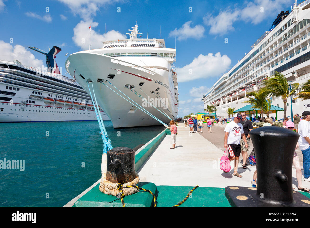 Carnival fascination cruise ship in port with other ships in nassau stock photo royalty free - Cruise port nassau bahamas ...