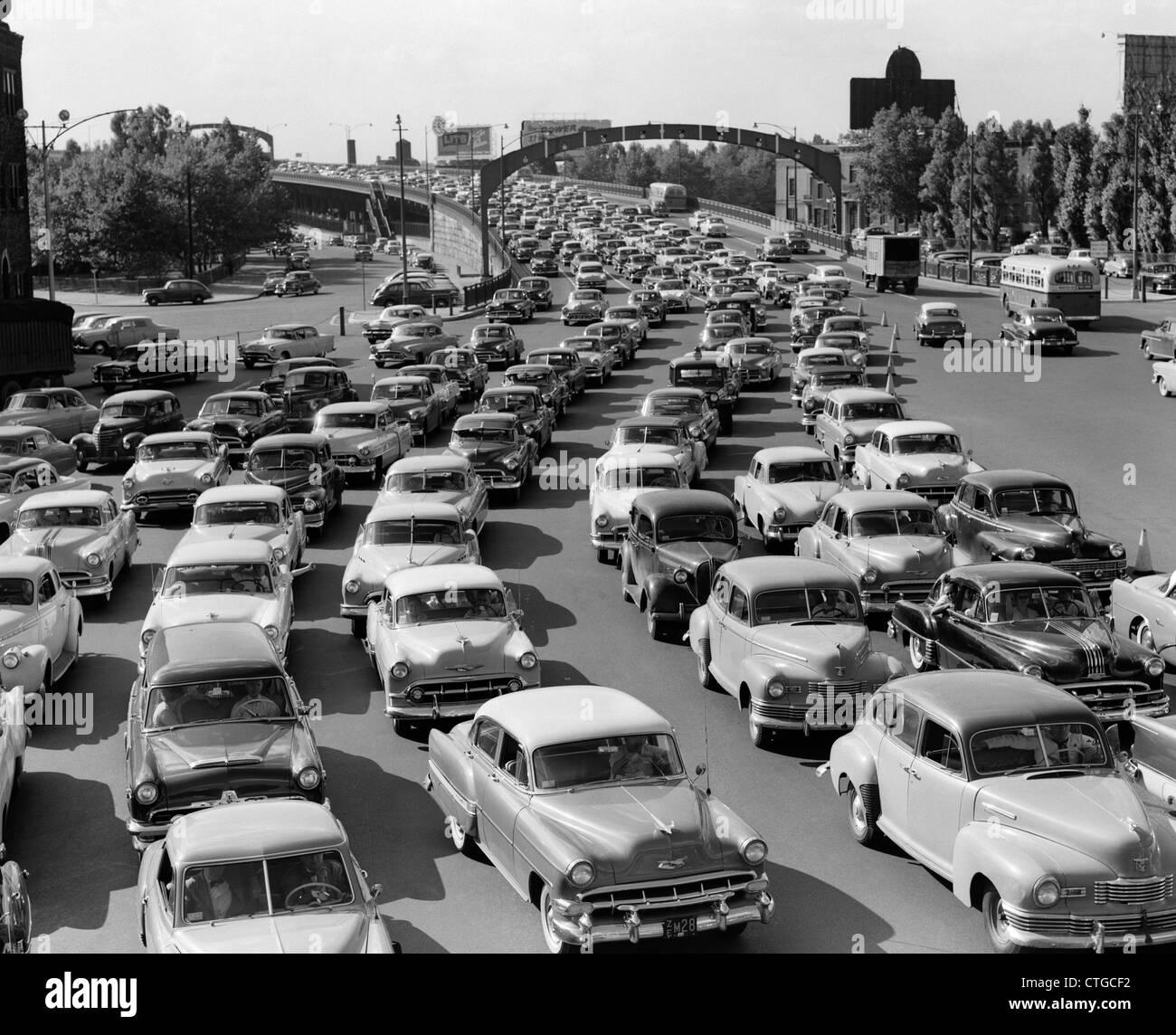 1950s Heavy Traffic Ben Franklin Bridge Philadelphia Pa