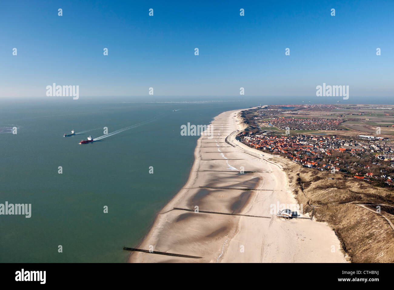 The Netherlands Zoutelande Aerial Of