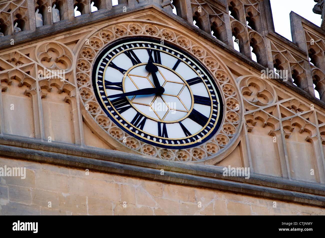 Bath Abbey, Clock, City of Bath, Somerset England Stock ...