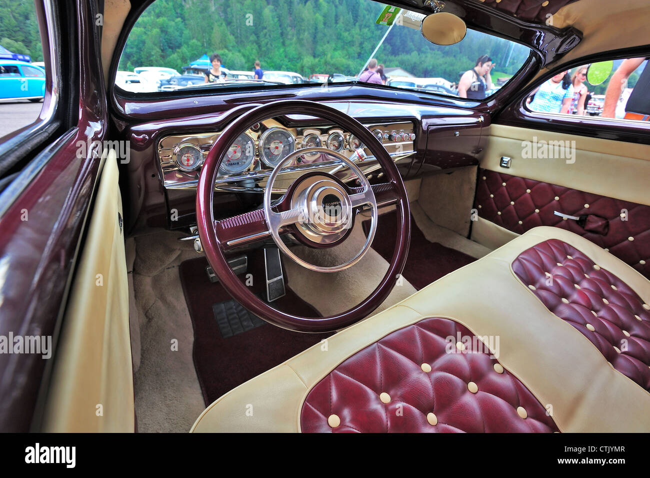 interior of a 1950s car stock photo royalty free image 49589367 alamy. Black Bedroom Furniture Sets. Home Design Ideas