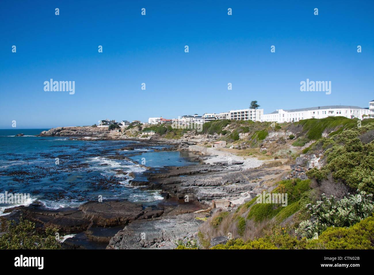 The Marine Tidal Swimming Pool Lies Between Rocks In The Sea Below Stock Photo Royalty Free
