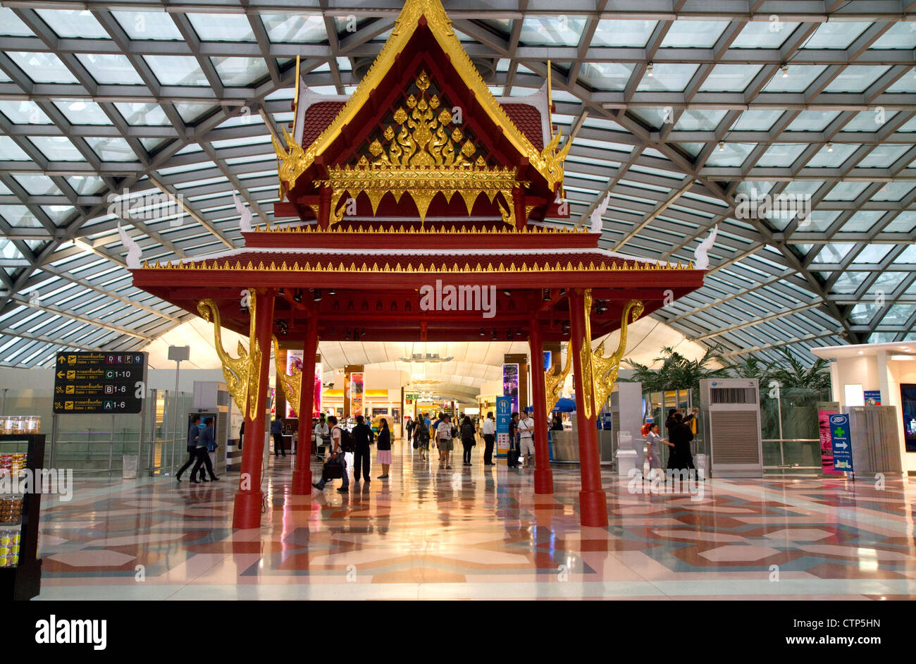 Thai Architecture In The Terminal At The Suvarnabhumi Airport Or
