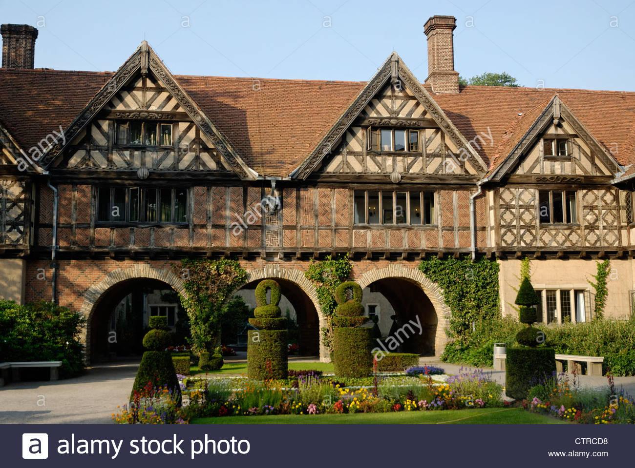 English Tudor Style Brick And Oak Timberframe Building Of