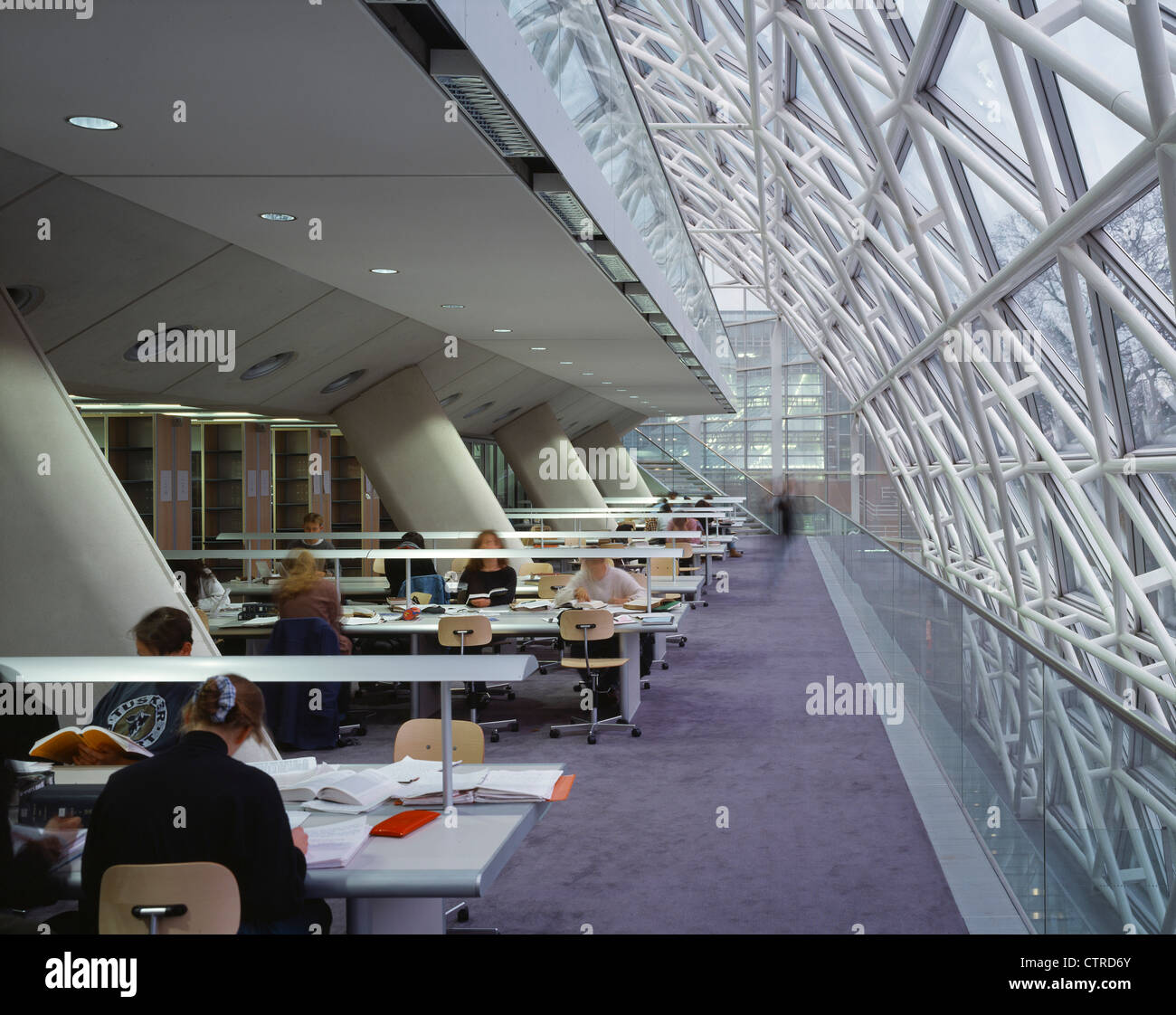 Faculty Of Law University Cambridge Library Interior With