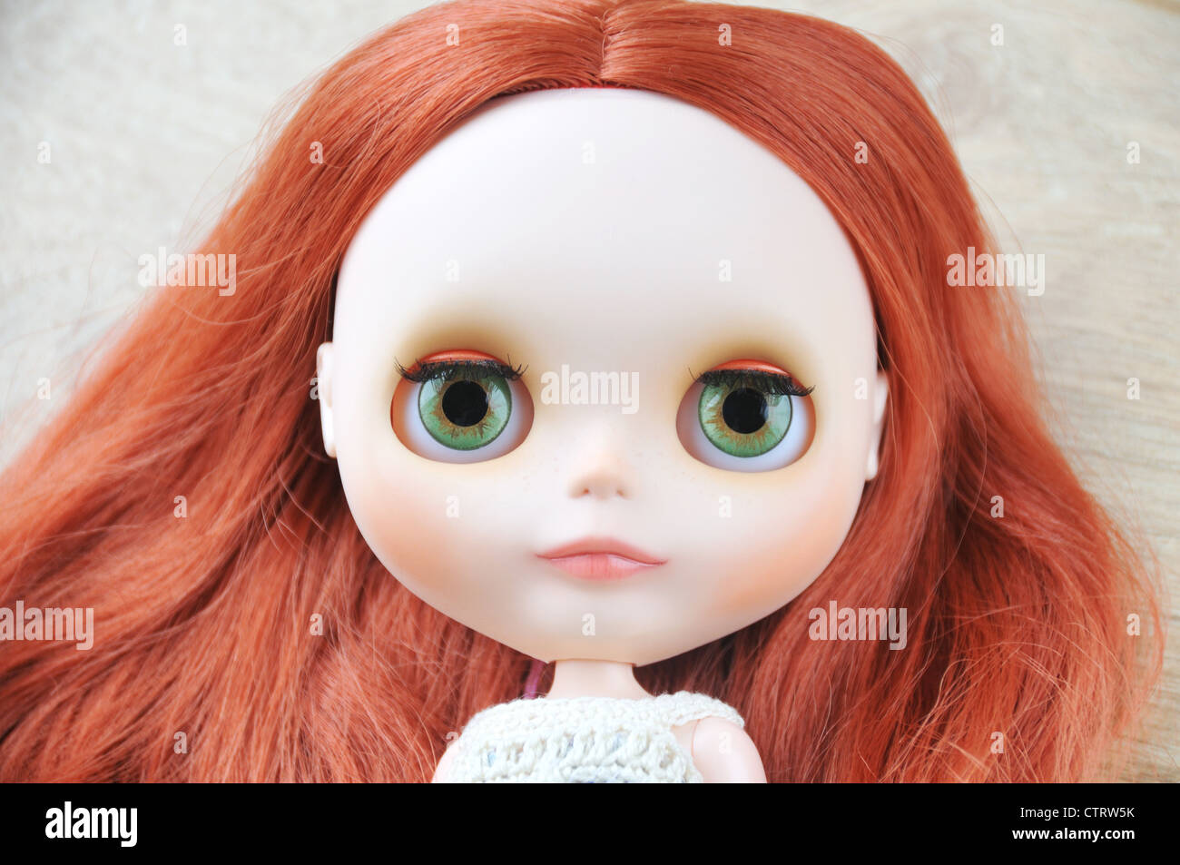<b>Custom made</b> Blythe doll with chalk make up and new hand-painted eye chips - custom-made-blythe-doll-with-chalk-make-up-and-new-hand-painted-eye-CTRW5K