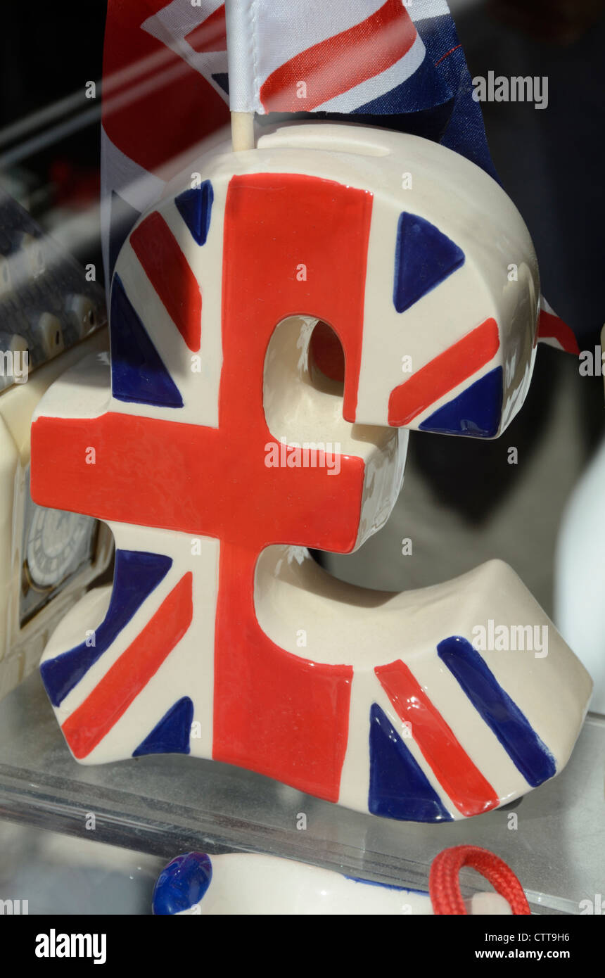 Ceramic british pound symbol in a souvenir shop london uk stock ceramic british pound symbol in a souvenir shop london uk buycottarizona Images