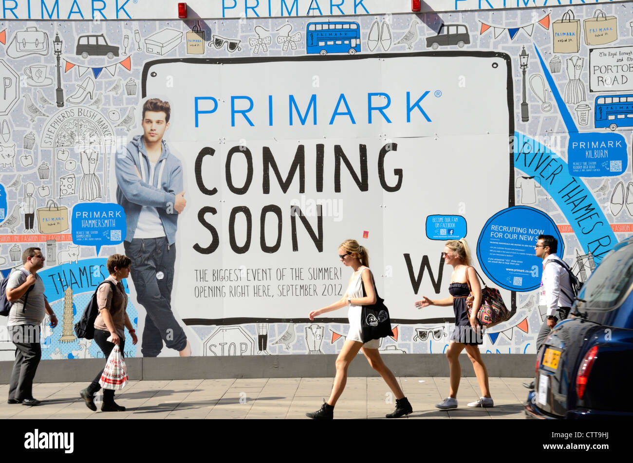hoarding advertising a new primark clothes store near the. Black Bedroom Furniture Sets. Home Design Ideas