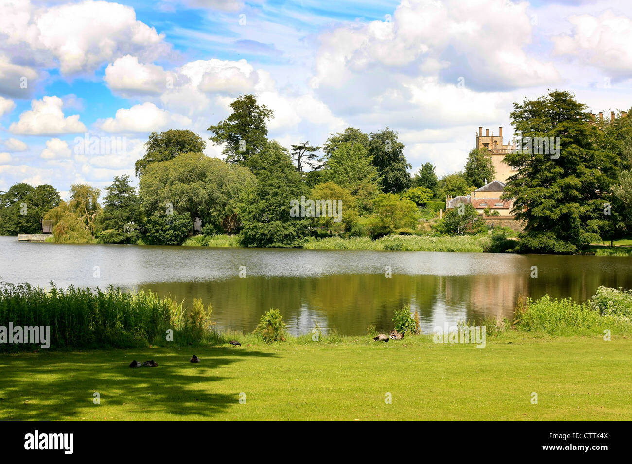 Sherborne Castle Lake and gardens designed by Capability Brown