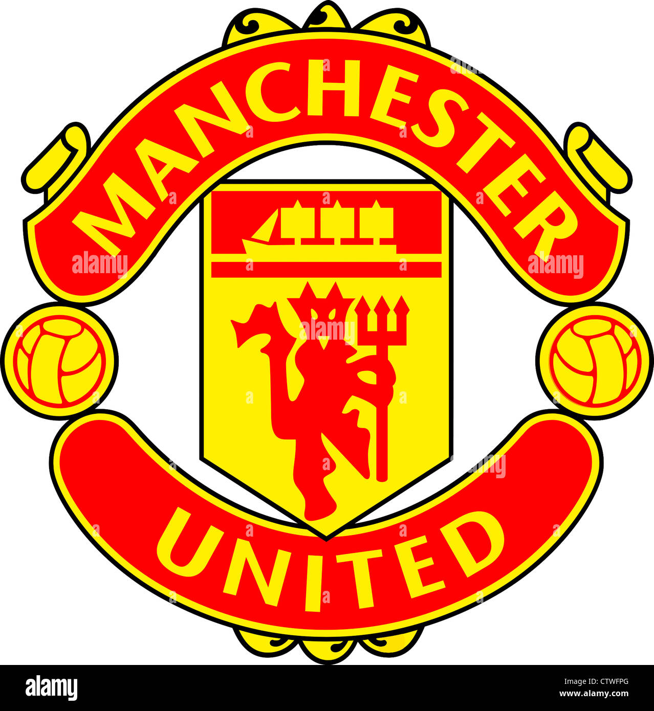 logo of english football team manchester united stock