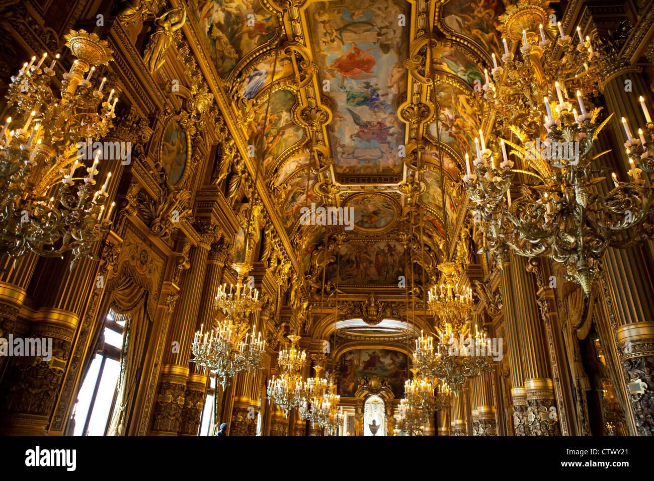 The Grand Foyer Palais Garnier : The grand foyer in palais garnier paris opera house