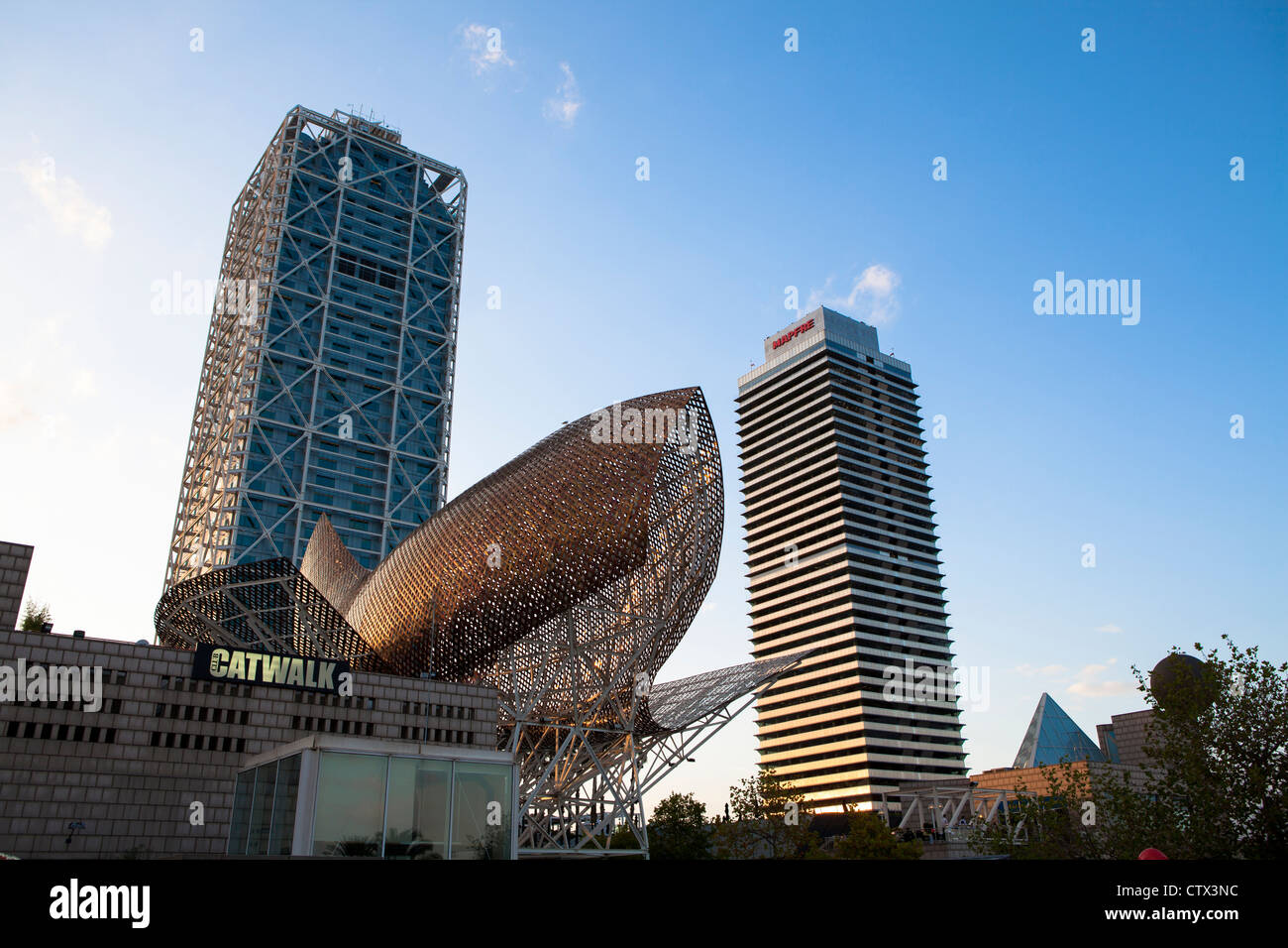 Modern Architecture In Barcelona modern architecture barcelona spain stock photo, royalty free