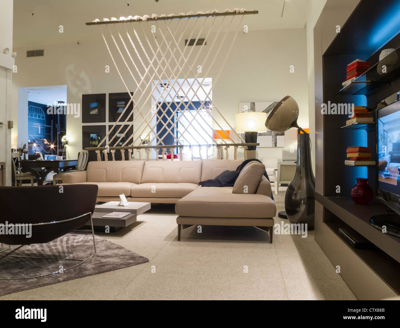 roche bobois furniture store interior nyc stock photo royalty free image 49749739 alamy. Black Bedroom Furniture Sets. Home Design Ideas