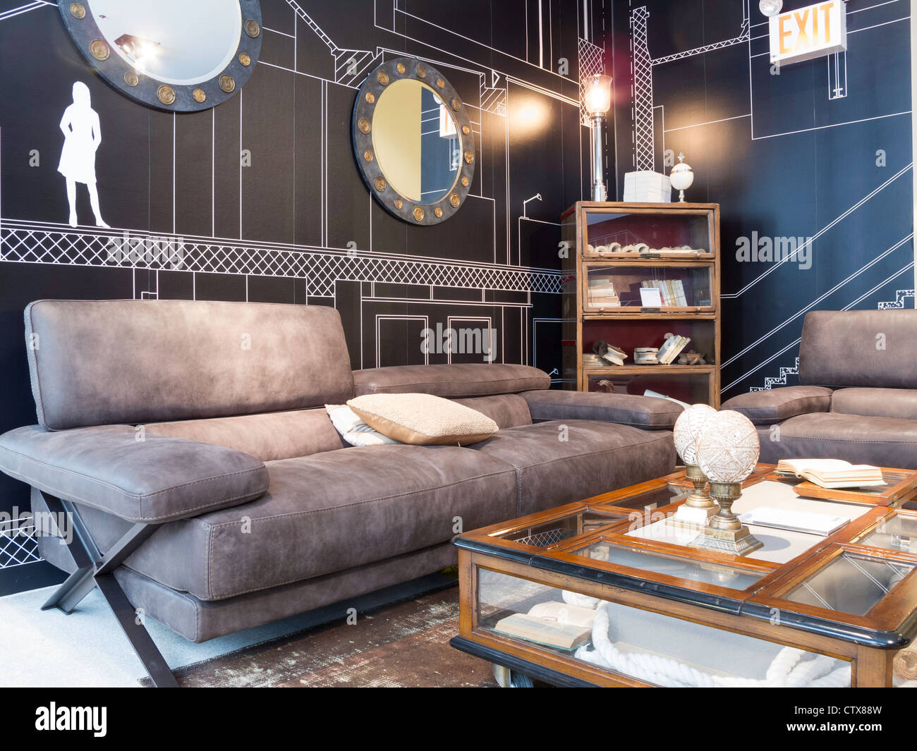 roche bobois furniture store interior nyc stock photo 49749753 alamy. Black Bedroom Furniture Sets. Home Design Ideas