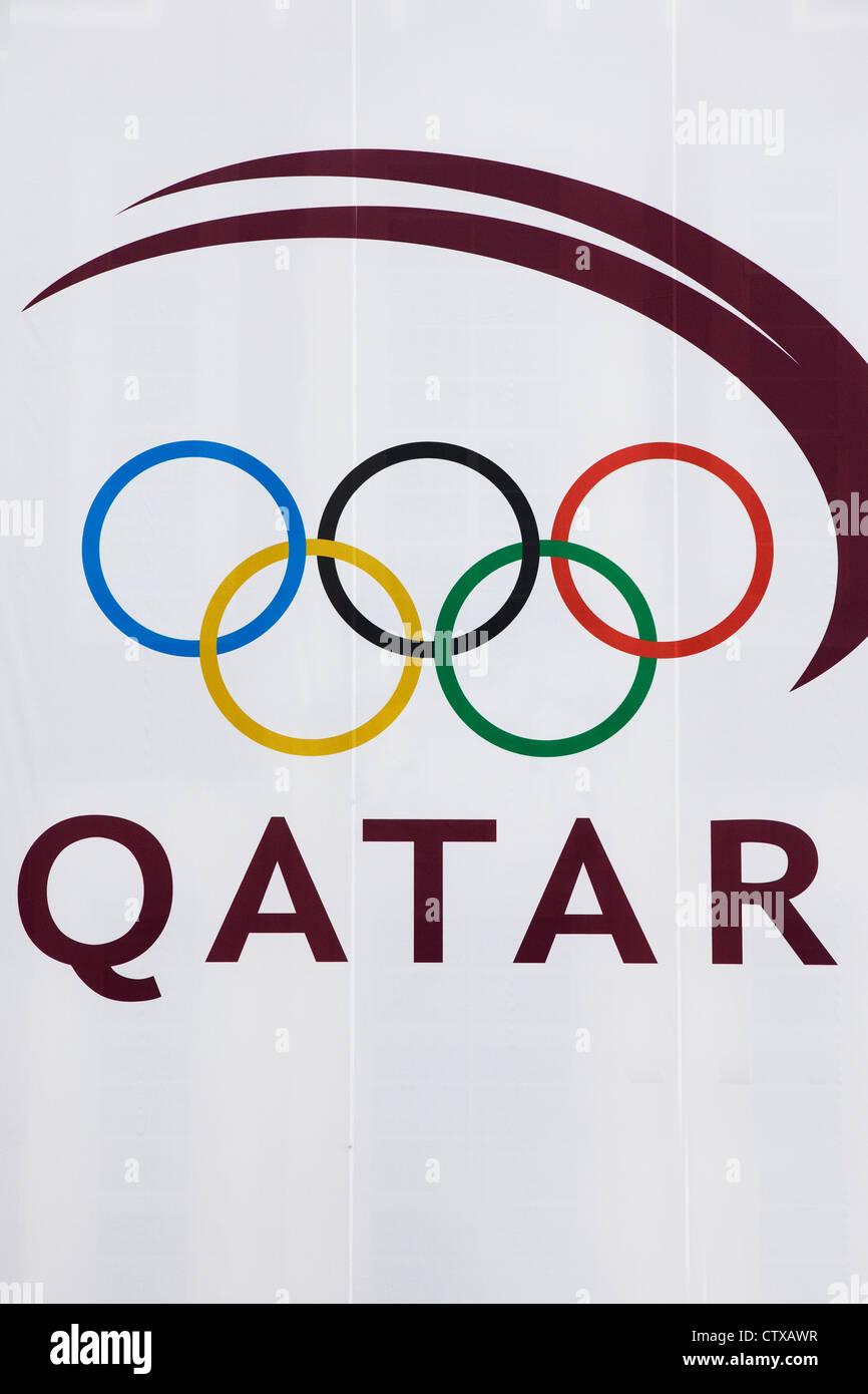 Olympic symbol the rings on a billboard advertising the 2016 qatar olympic symbol the rings on a billboard advertising the 2016 qatar olympic games in london england buycottarizona