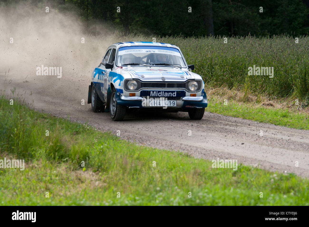 Old rally car on gravel road Stock Photo: 49775886 - Alamy