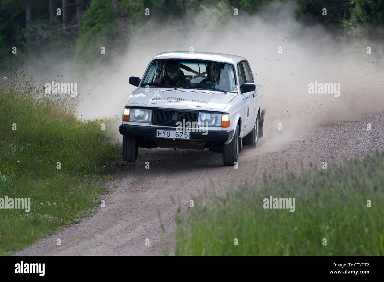 Old rally car on gravel road Stock Photo: 49776050 - Alamy