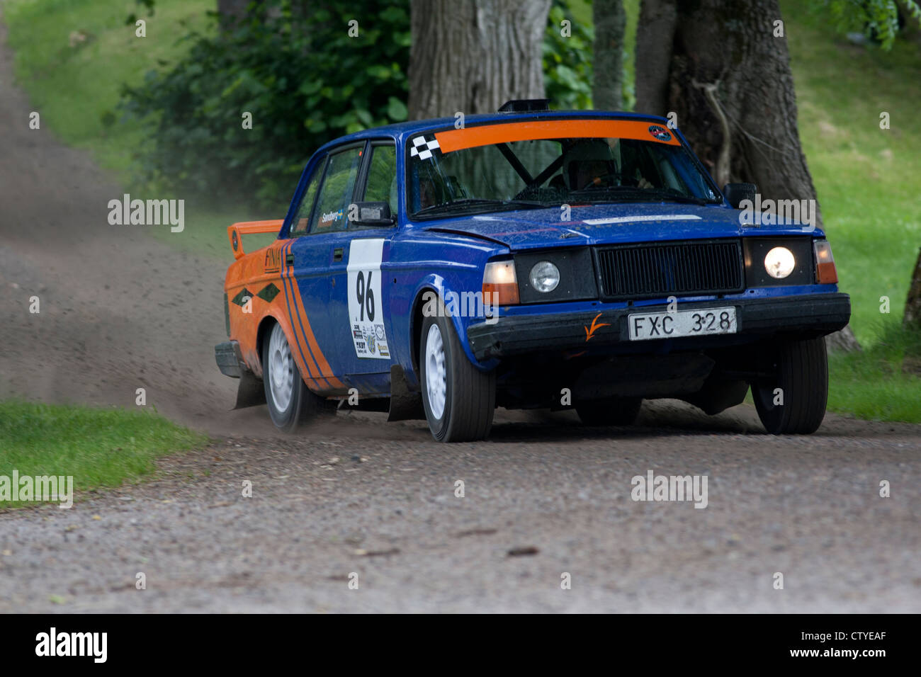 Old rally car on gravel road Stock Photo: 49776455 - Alamy