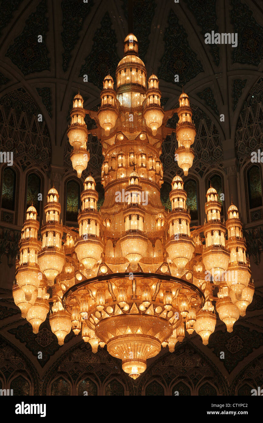 Largest Crystal Chandelier In The World In A Mosque In