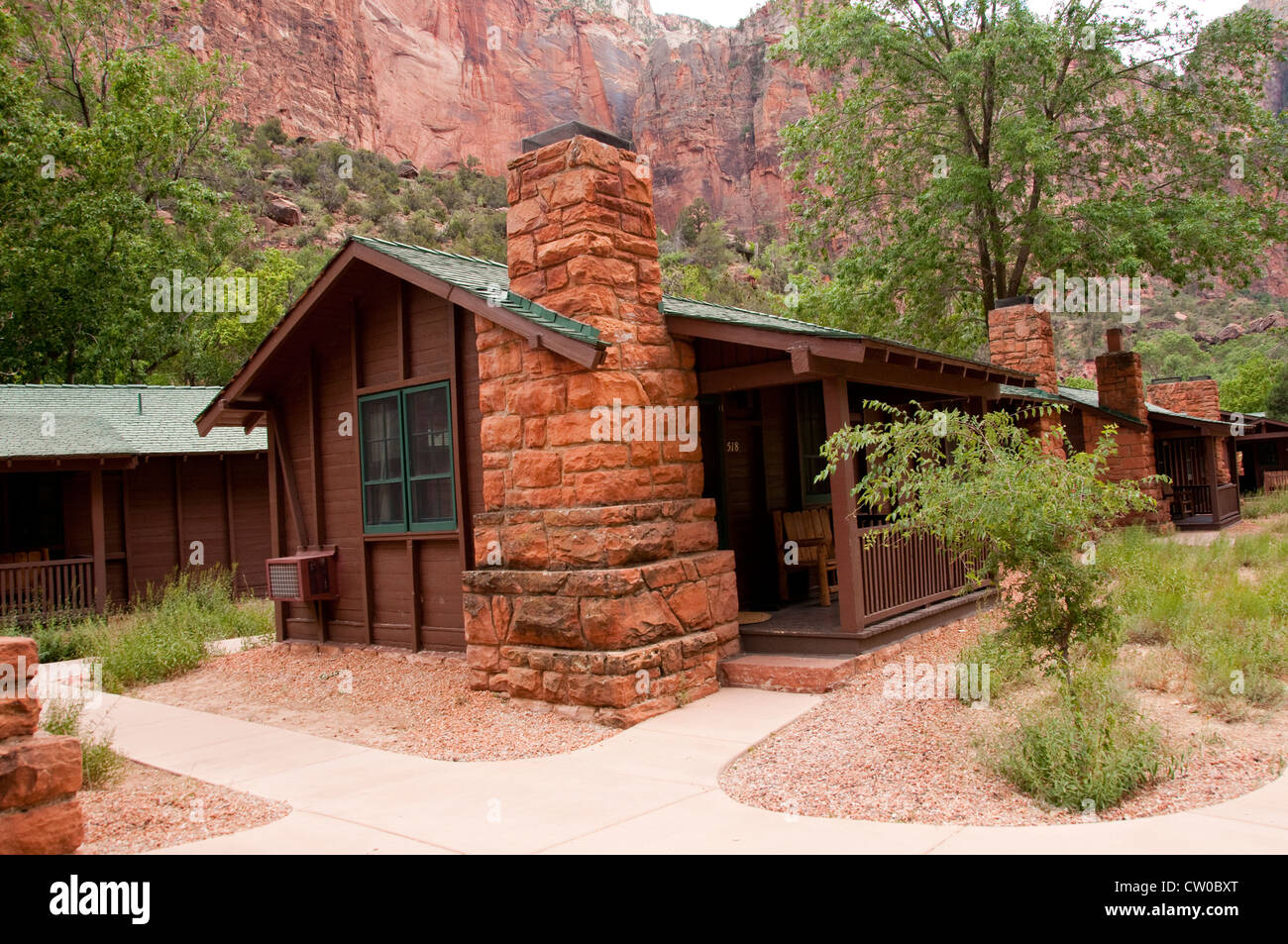 Charmant USA Utah, Zion National Park. The Lodge, Only Lodging In Park, And Its  Historic Cabins
