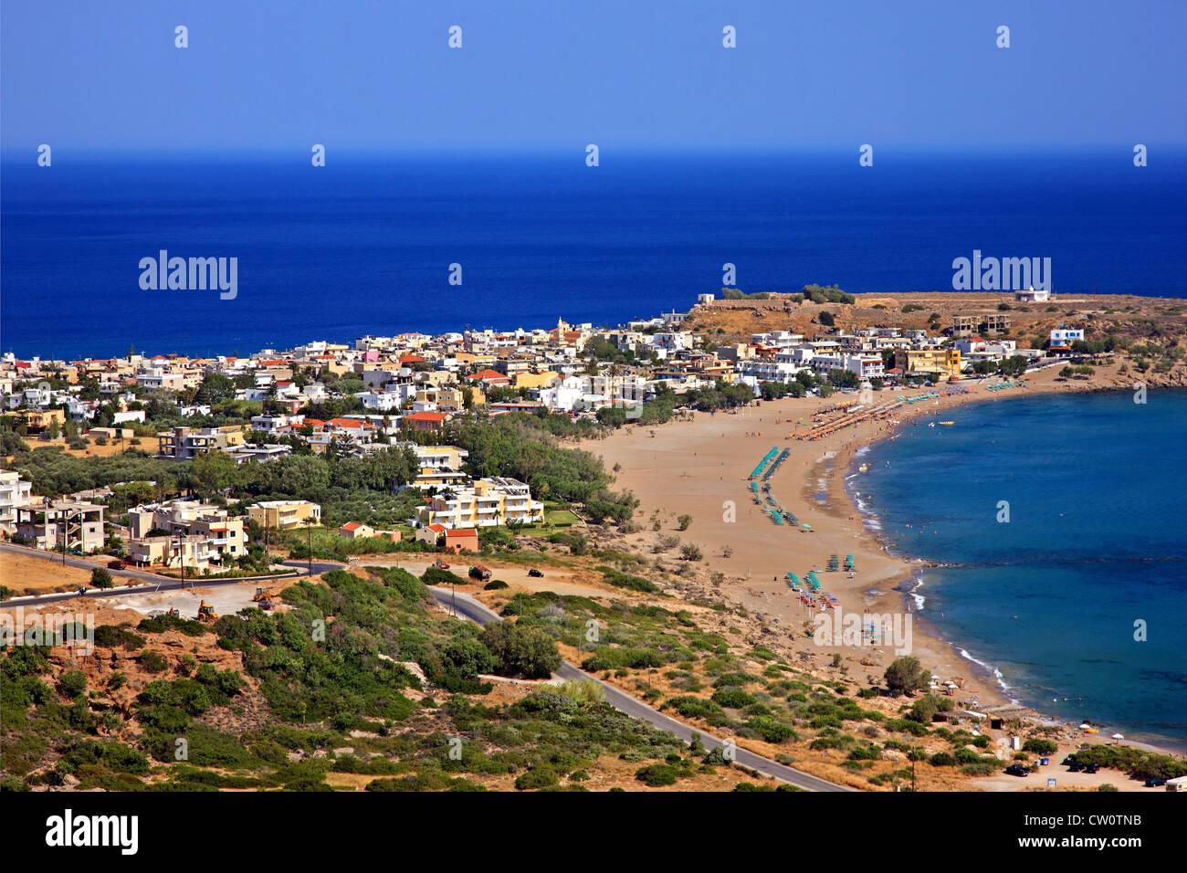 Paleochora town to the south of Chania prefecture, Crete ...