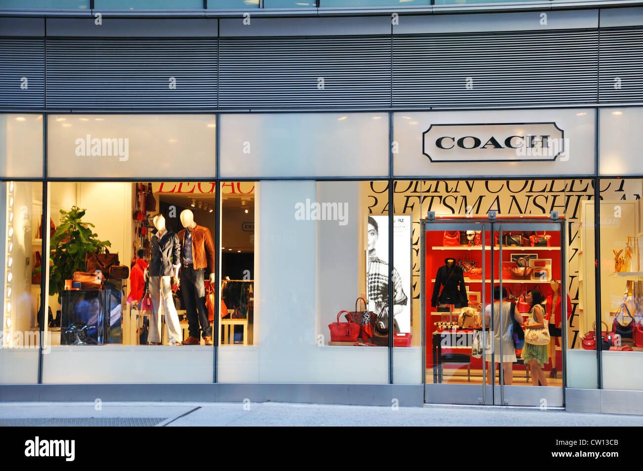 coach apparel outlet 6dk4  Coach designer handbag store, New York, USA