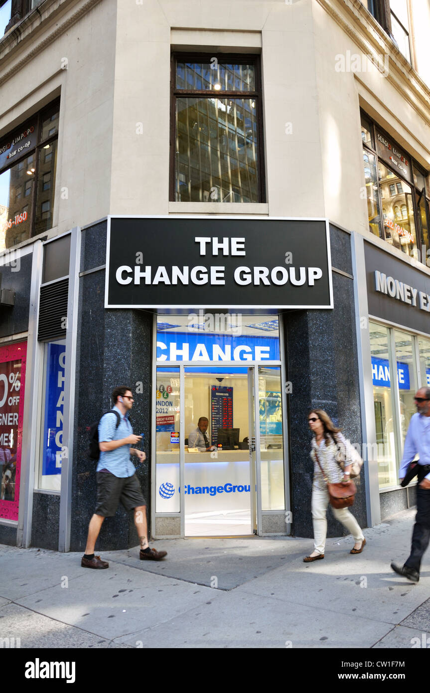 Bureau De Change Brest #10: Money Exchange, New York City, USA - Stock Image