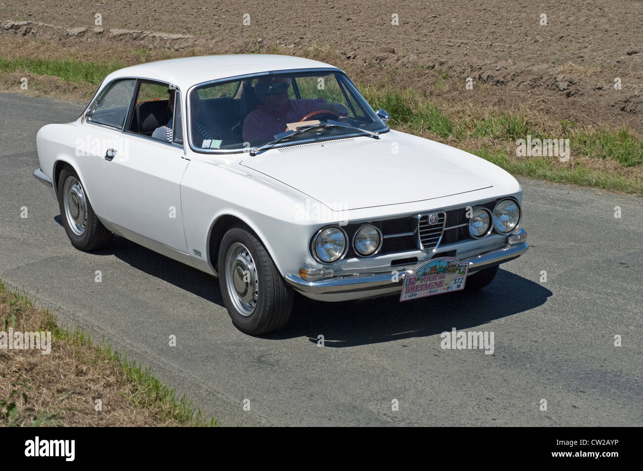 alfa romeo 1750 gtv coupe of 1968 in the tour de bretagne near pordic stock photo royalty free. Black Bedroom Furniture Sets. Home Design Ideas