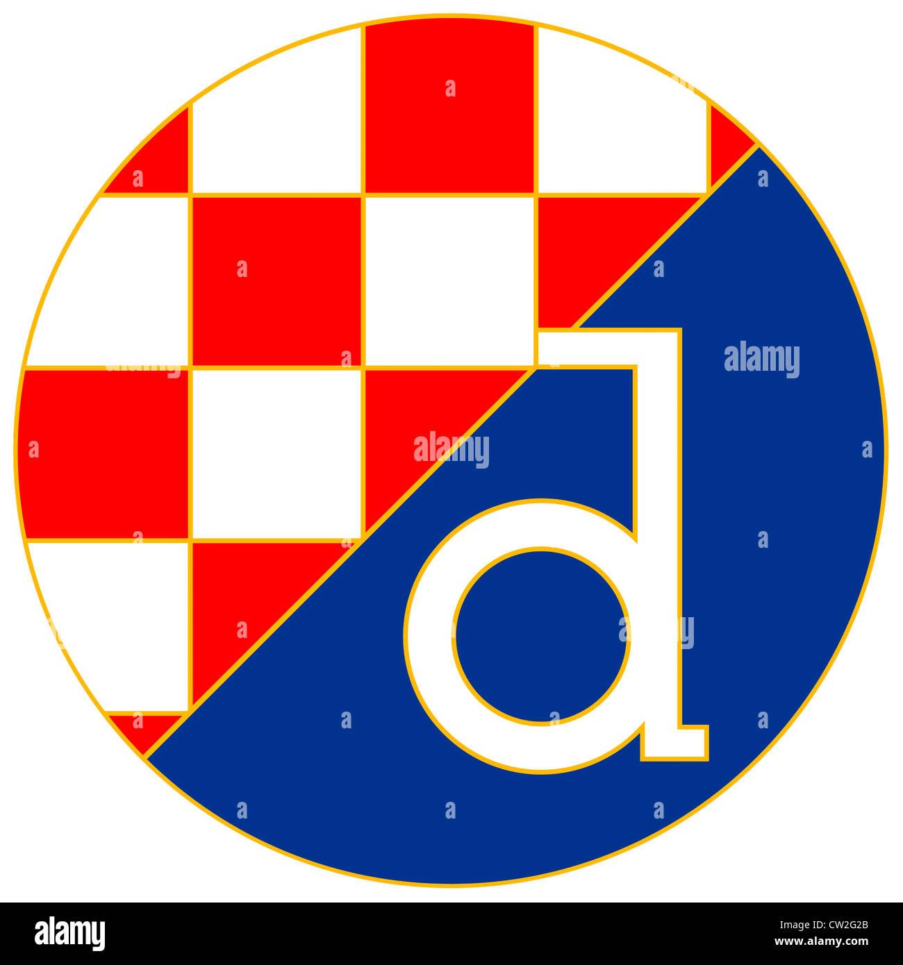 logo of croatian football team dinamo zagreb stock photo