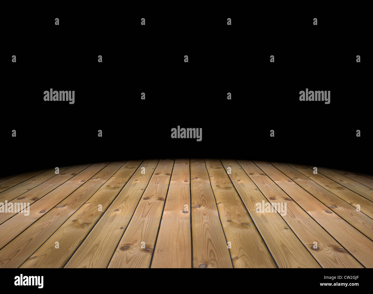 3d Empty Abstract Dark Room With A Wood Floor Stock Photo