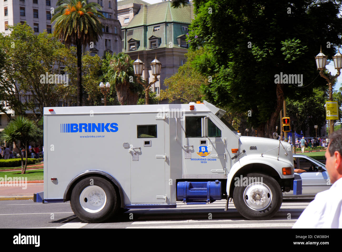 Buenos aires argentina plaza de mayo street scene brinks international company security bullet proof armored